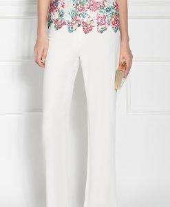 Pantaloni eleganti cu croi drept Crem - Imbracaminte - Imbracaminte / Pantaloni
