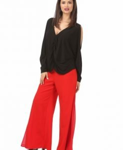 Pantaloni eleganti rosii P021-RM - Marimi mari -