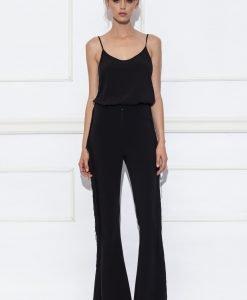 Pantaloni evazati cu franjuri Negru - Imbracaminte - Imbracaminte / Pantaloni