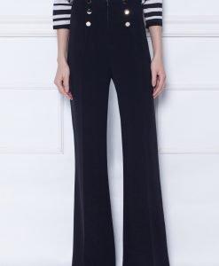 Pantaloni evazati cu talie inalta Negru - Imbracaminte - Imbracaminte / Pantaloni