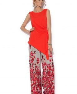 Pantaloni largi cu flori IMPRIMAT - Imbracaminte - Imbracaminte / Pantaloni