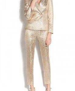 Pantaloni metalici Auriu - Imbracaminte - Imbracaminte / Pantaloni