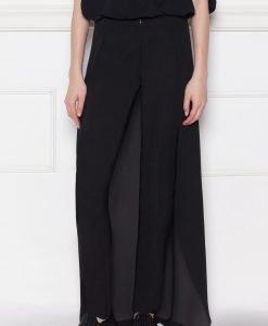 Pantaloni negri cu detaliu din voal Negru - Imbracaminte - Imbracaminte / Pantaloni