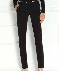 Pantaloni negri cu fermoare Negru - Imbracaminte - Imbracaminte / Pantaloni