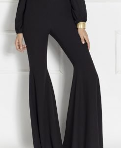 Pantaloni negri evazati Negru - Imbracaminte - Imbracaminte / Pantaloni