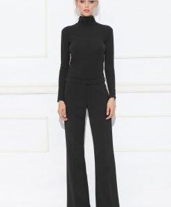 Pantaloni negri usor evazati Negru - Imbracaminte - Imbracaminte / Pantaloni