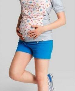 Pantaloni scurți Marina Lazur - Produse > Haine pentru gravide > Pantaloni -
