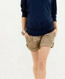 Pantaloni scurți bej Lusso - Produse > Haine pentru gravide > Pantaloni -