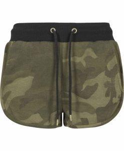 Pantaloni scurti Camo pentru Femei oliv-camuflaj Urban Classics - Pantaloni scurti - Urban Classics>Femei>Pantaloni scurti