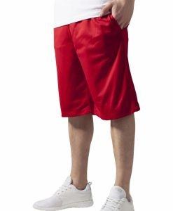Pantaloni scurti baschet Mesh cu buzunare rosu Urban Classics - Pantaloni hip hop - Urban Classics>Barbati>Pantaloni hip hop