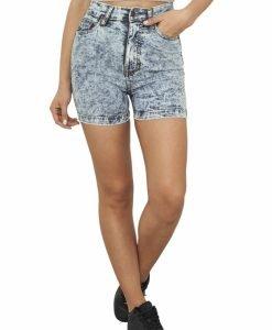 Pantaloni scurti blugi cu talie inalta - Pantaloni scurti - Urban Classics>Femei>Pantaloni scurti