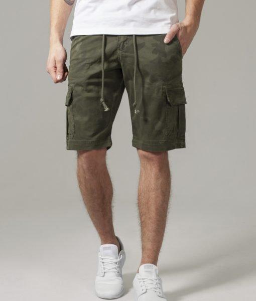 Pantaloni scurti camuflaj Camo oliv-camuflaj Urban Classics – Pantaloni cargo – Urban Classics>Barbati>Pantaloni cargo