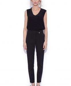 Pantaloni slim casual Negru - Imbracaminte - Imbracaminte / Pantaloni