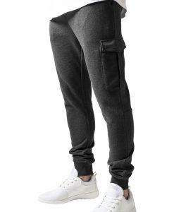 Pantaloni sport Fitted Cargo gri carbune Urban Classics - Pantaloni cargo - Urban Classics>Barbati>Pantaloni cargo
