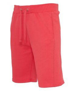 Pantaloni sport scurti Light Fleece rosu deschis Urban Classics - Lichidare - Urban Classics>Lichidare