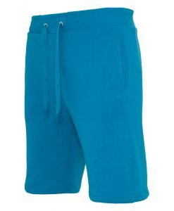 Pantaloni sport scurti Light Fleece turcoaz Urban Classics - Lichidare - Urban Classics>Lichidare