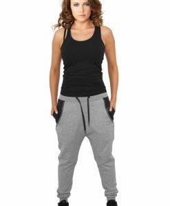 Pantaloni trening dama cu buzunar imitatie piele - Pantaloni trening - Urban Classics>Femei>Pantaloni trening
