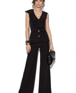 Pantaloni uni cu croiala larga Negru - Imbracaminte - Imbracaminte / Pantaloni