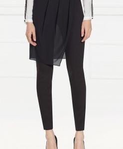 Pantaloni versatili cu voal aplicat Negru - Imbracaminte - Imbracaminte / Pantaloni