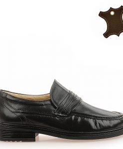 Pantofi Barbati Piele 3079 Negri - Promotii - Lichidare Stoc