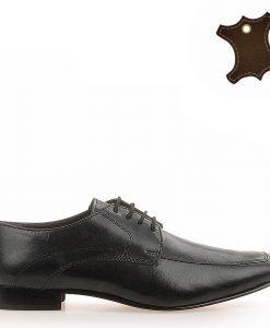 Pantofi Barbati Piele City Negri - Promotii - Lichidare Stoc