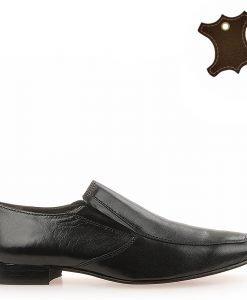 Pantofi Barbati Piele Quick Negri - Promotii - Lichidare Stoc