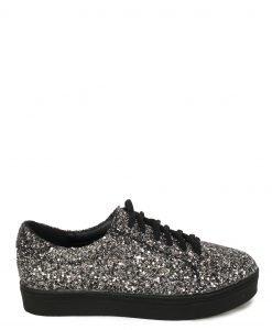 Pantofi argintii cu glitter Argintiu - Incaltaminte - Incaltaminte / Pantofi sport