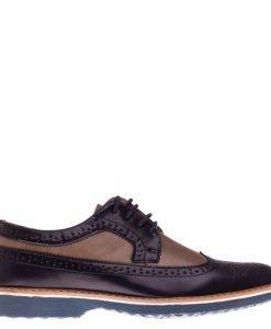 Pantofi barbati Bruno albastru cu bej - Incaltaminte Barbati - Pantofi Barbati