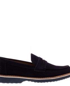 Pantofi barbati Clark albastri fara sireturi - Incaltaminte Barbati - Pantofi Barbati