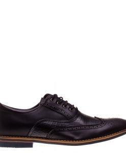 Pantofi barbati Conard negri - Incaltaminte Barbati - Pantofi Barbati