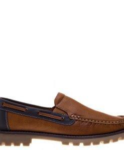 Pantofi barbati Gill camel cu albastru - Incaltaminte Barbati - Pantofi Barbati