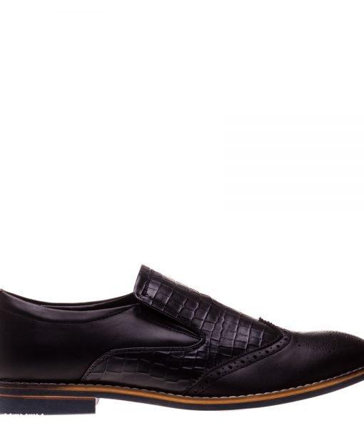 Pantofi barbati Jay negri – Incaltaminte Barbati – Pantofi Barbati