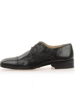 Pantofi barbati piele 100FPR negri - Promotii - Lichidare Stoc