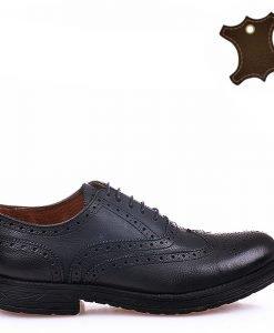 Pantofi barbati piele Vintage negri - Promotii - Lichidare Stoc