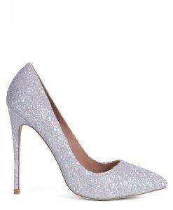 Pantofi cu gliter argintiu Gri - Incaltaminte - Incaltaminte / Pantofi cu toc