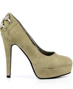 Pantofi dama Edana khaki - Ultima Marime - Ultima Marime
