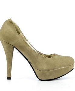 Pantofi dama Efrat khaki - Ultima Marime - Ultima Marime