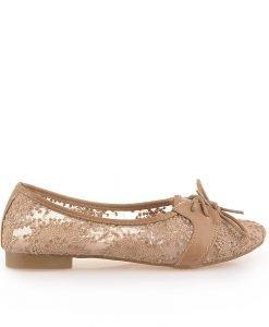 Pantofi dama Erika bej - Promotii - Lichidare Stoc