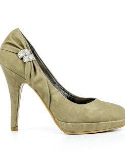 Pantofi dama Florenta khaki - Ultima Marime - Ultima Marime