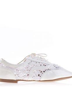 Pantofi dama Keryn albi - Ultima Marime - Ultima Marime