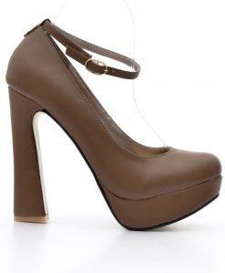Pantofi dama Kitana khaki - Ultima Marime - Ultima Marime