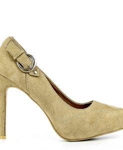 Pantofi dama Lena khaki - Ultima Marime - Ultima Marime