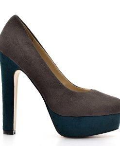 Pantofi dama Leonie gri - Promotii - Lichidare Stoc