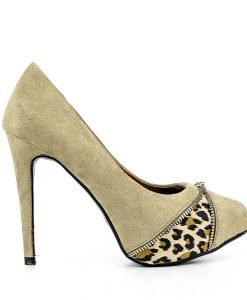 Pantofi dama Luminita khaki - Promotii - Lichidare Stoc