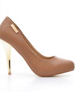 Pantofi dama Megane khaki - Promotii - Lichidare Stoc