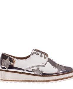 Pantofi dama Nubia argintii - Incaltaminte Dama - Pantofi Dama