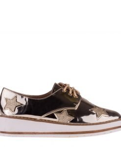 Pantofi dama Nubia aurii - Incaltaminte Dama - Pantofi Dama