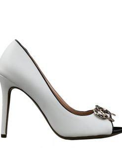 Pantofi dama Olwen albi - Incaltaminte Dama - Pantofi Dama