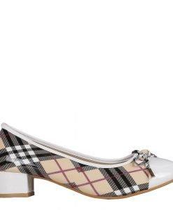 Pantofi dama Wallis albi - Incaltaminte Dama - Pantofi Dama
