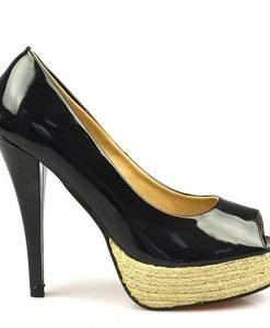 Pantofi dama negri Hugs - Promotii - Lichidare Stoc